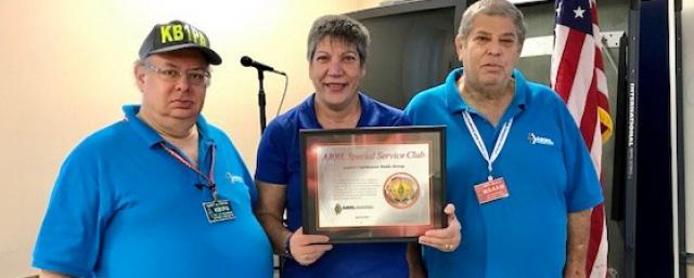 Jupiter Lighthouse Radio Group designated as a Special Service Club
